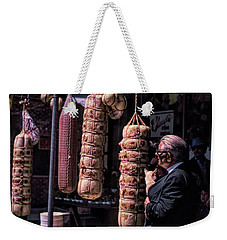 Weekender Tote Bag featuring the photograph Which One Should We Share? by Richard Goldman