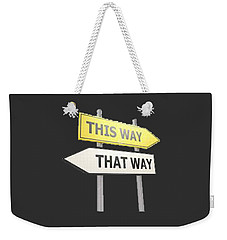 Which Way T-shirt Weekender Tote Bag