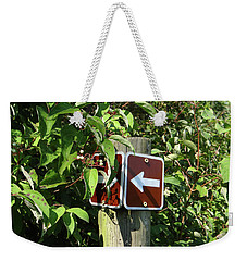 Which Way Weekender Tote Bag