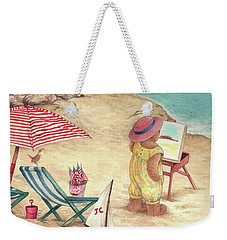 Whimsical Bear On The Beach Weekender Tote Bag