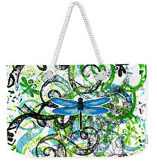 Whimsical Dragonflies Weekender Tote Bag by Genevieve Esson