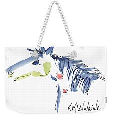 Whimsical Horse Head Watercolor Painting By Kmcelwaine Weekender Tote Bag