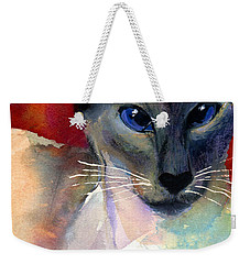 Whimsical Siamese Cat Painting Weekender Tote Bag
