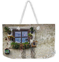 Weekender Tote Bag featuring the photograph Whimsical Window - Slovenia by Stuart Litoff