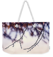 Weekender Tote Bag featuring the photograph Whip by Gene Garnace