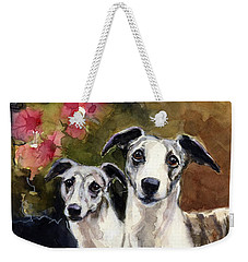 Whippets Weekender Tote Bag by Molly Poole