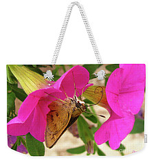 Whirl-about Skipper Butterfly Weekender Tote Bag by Donna Brown