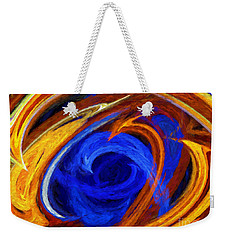 Weekender Tote Bag featuring the digital art Whirlpool Abstract by Andee Design