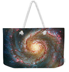 Whirlpool Galaxy  Weekender Tote Bag by Jennifer Rondinelli Reilly - Fine Art Photography