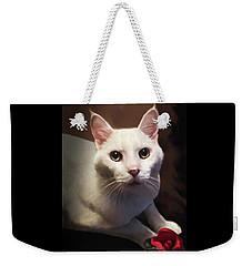 Whiskers And Rose Weekender Tote Bag