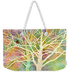 Weekender Tote Bag featuring the painting Whisper by Hailey E Herrera