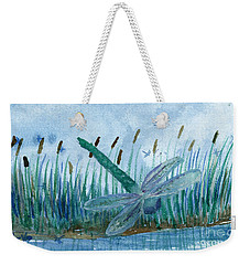 Whispering Cattails Weekender Tote Bag