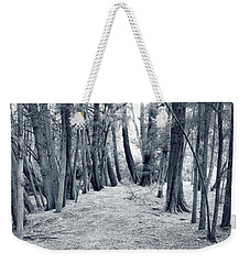 Weekender Tote Bag featuring the photograph Whispering Forest by Wayne Sherriff