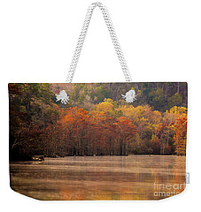 Weekender Tote Bag featuring the photograph Whispering Mist by Iris Greenwell