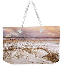 Weekender Tote Bag featuring the photograph Whispers In The Dunes by Debra and Dave Vanderlaan