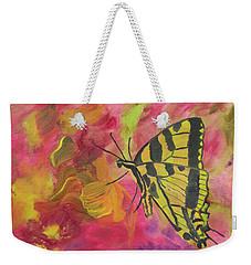 Whispers Of Wings And Petals Weekender Tote Bag by Meryl Goudey