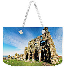 Whitby Abbey Weekender Tote Bag by Anthony Baatz