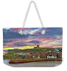 Whitby Abbey Uk Weekender Tote Bag by Lynn Bolt
