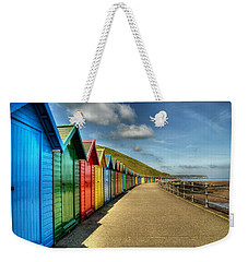Whitby Beach Huts Weekender Tote Bag
