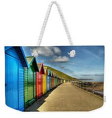 Whitby Beach Huts Weekender Tote Bag