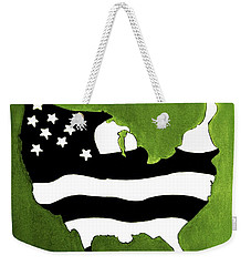 White And Black Weekender Tote Bag by Lorna Maza
