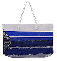 White And Blue Boat Symmetry Weekender Tote Bag