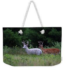White And Brown Bucks Weekender Tote Bag
