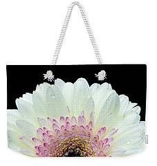 White And Pink Daisy Weekender Tote Bag