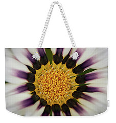 White And Purple Zinnia With Yellow Weekender Tote Bag