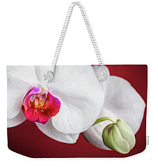 White And Red Orchids Weekender Tote Bag