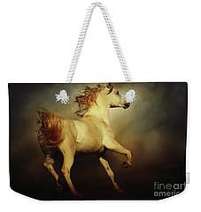 White Arabian Horse With Long Beautiful Mane Weekender Tote Bag