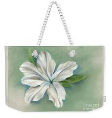 White Azalea Flower Weekender Tote Bag