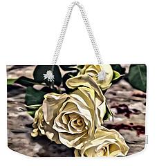 White Baby Roses Weekender Tote Bag