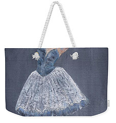 Weekender Tote Bag featuring the painting White Ballerina by Jamie Frier