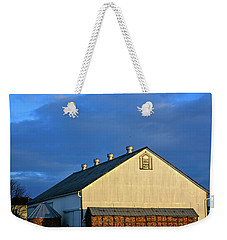 White Barn At Golden Hour Weekender Tote Bag