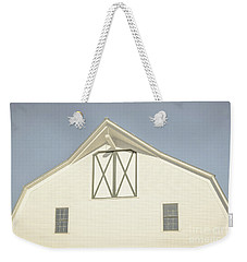 Weekender Tote Bag featuring the photograph White Barn South Woodstock Vermont by Edward Fielding