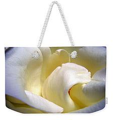White Beauty Rose Weekender Tote Bag