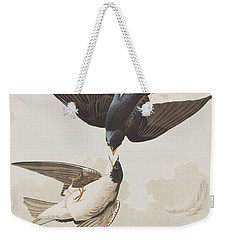 White-bellied Swallow Weekender Tote Bag by John James Audubon