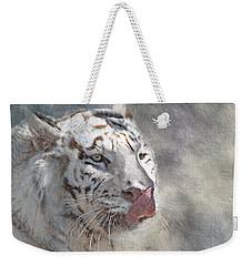 White Bengal Tiger Weekender Tote Bag