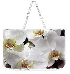 White Big Orchids  Weekender Tote Bag