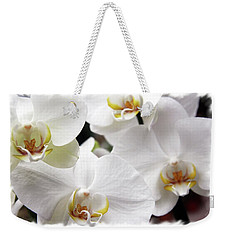 White Big Orchids  Weekender Tote Bag