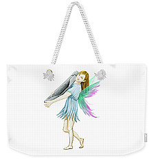White Birch Tree Fairy Carrying Bark Weekender Tote Bag