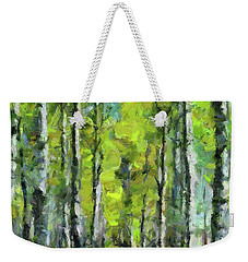 White Birches Weekender Tote Bag by Dragica Micki Fortuna