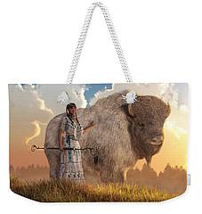 White Buffalo Calf Woman Weekender Tote Bag
