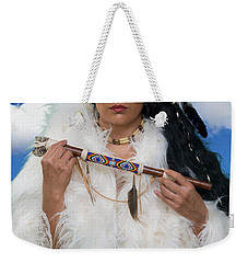 White Buffalo Calf Woman Weekender Tote Bag