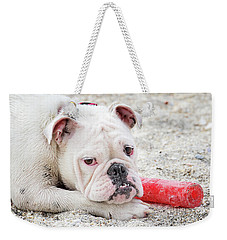 White Bull Dog Weekender Tote Bag