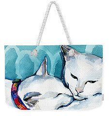 White Cat Affection Weekender Tote Bag