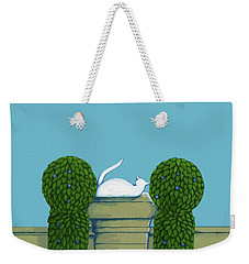 White Cat Blue Sky Weekender Tote Bag