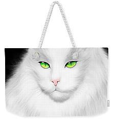 White Cat Weekender Tote Bag by Salman Ravish