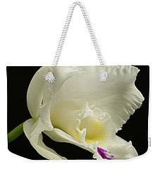 White Cattleya Orchid  Weekender Tote Bag